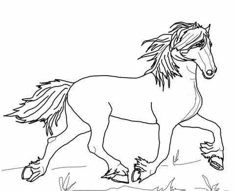 Friesian Horse Coloring Page Dieren Kleurplaten Fries Paard Paard Tekeningen