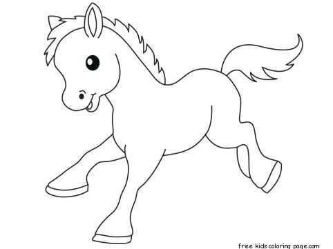 Pony Baby Animals Coloring Pages For Kids Dieren Tekenen Kleurplaten Dieren