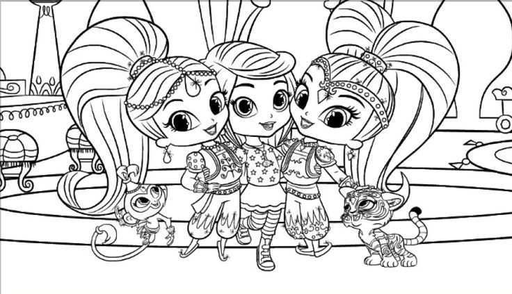 Shimmer And Shine Coloring Pages Only Coloring Pages Animal Coloring Pages Mermaid Coloring Pages Cartoon Coloring Pages