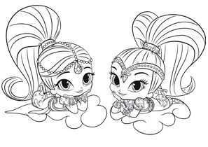 Shimmer And Shine Colora Shimmer And Shine 1511 297 Jpg 297 210 Animal Coloring Pages Nick Jr Coloring Pages Coloring Pages