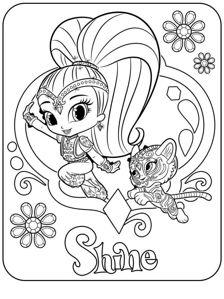 Shimmer And Shine Coloring Pages Best Coloring Pages For Kids Coloring Pages Free Coloring Pages Coloring Pages Winter