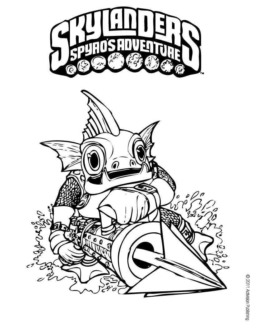 Skylanders Coloring Page Gill Grunt Kleurplaten Skylanders Tekenen