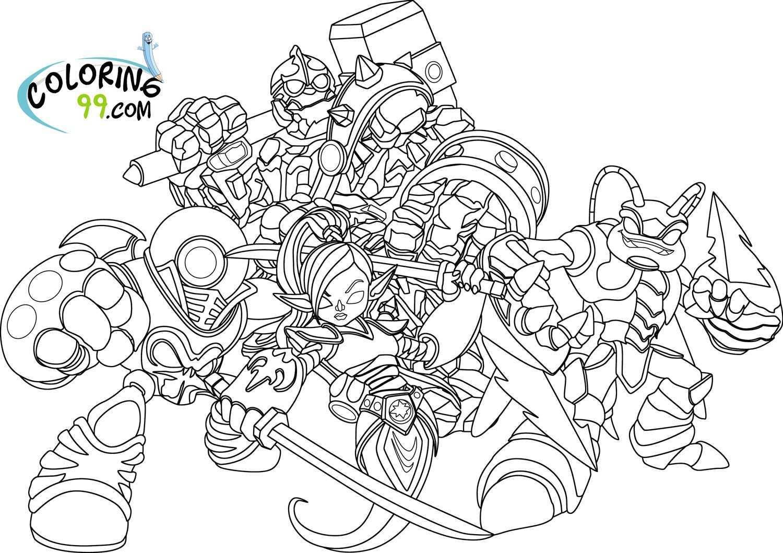 Skylanders Giants Coloring Pages Kleurplaten Skylanders