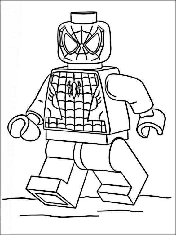 25 Vivant Coloriage Spiderman Lego Gallery Di 2020 Gambar