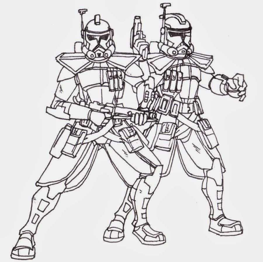 Star Wars Kleurplaten Clone Trooper