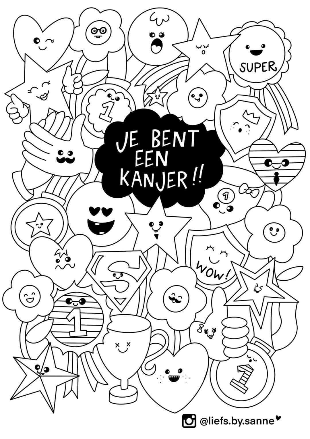 Kanjer Kleurplaat Kinderkleurplaten Krabbel Kunst Tekeningen Kleurplaten