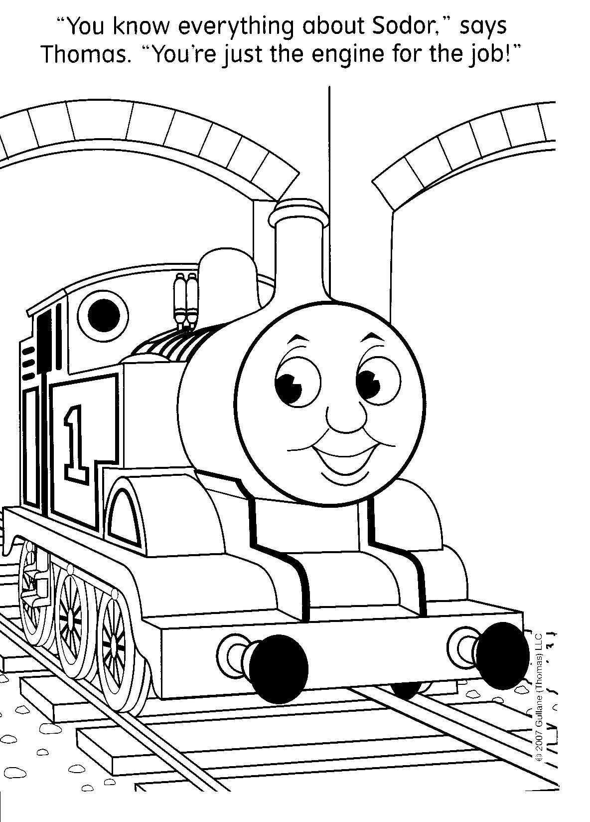 Image Detail For Free Thomas The Train Coloring Pages Could Be Good To Have A Coloring Table For The Older Kids Suzee Co Kleurplaten Thomas De Trein Trein
