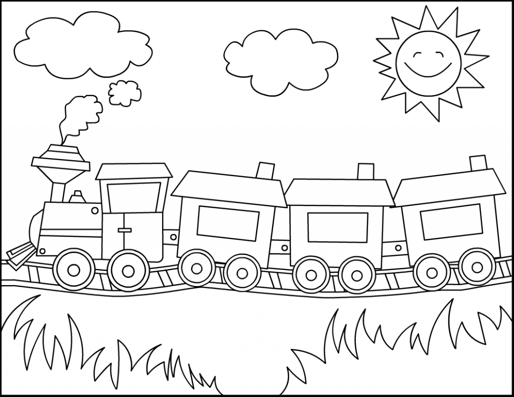 Free Printable Train Coloring Pages For Kids Kinderkleurplaten Kleurplaten Voor Kinderen Kleurplaten