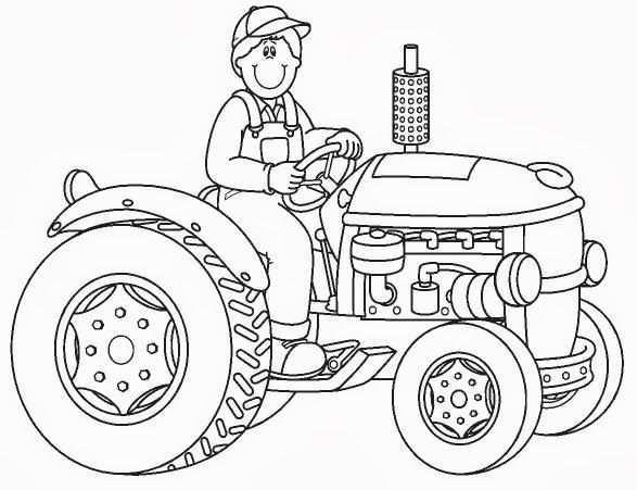 Pin Van I T Op Coloring Vehicles Tractor Kleurboek Kleurplaten