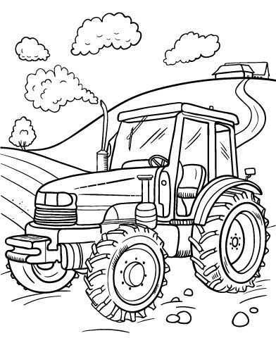 Free Tractor Coloring Page Tractor Coloring Pages Truck Coloring Pages Animal Colorin