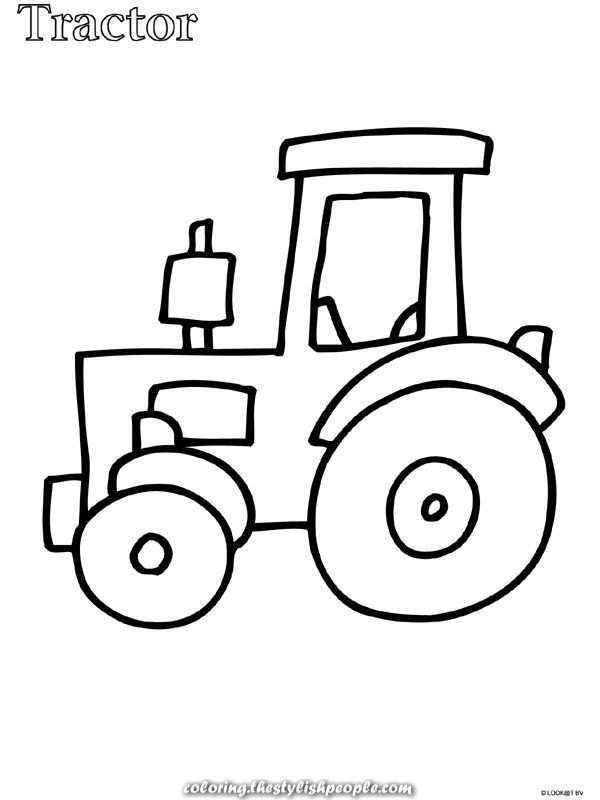 Terrific Tractor Coloring For Younger Kids Coloring Kleurplaten Nl Tractor Coloring P