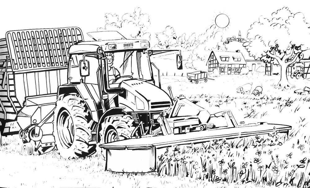 Maaicombinatie Copy Jpg 1000 607 Truck Coloring Pages Poppy Art Coloring Pictures