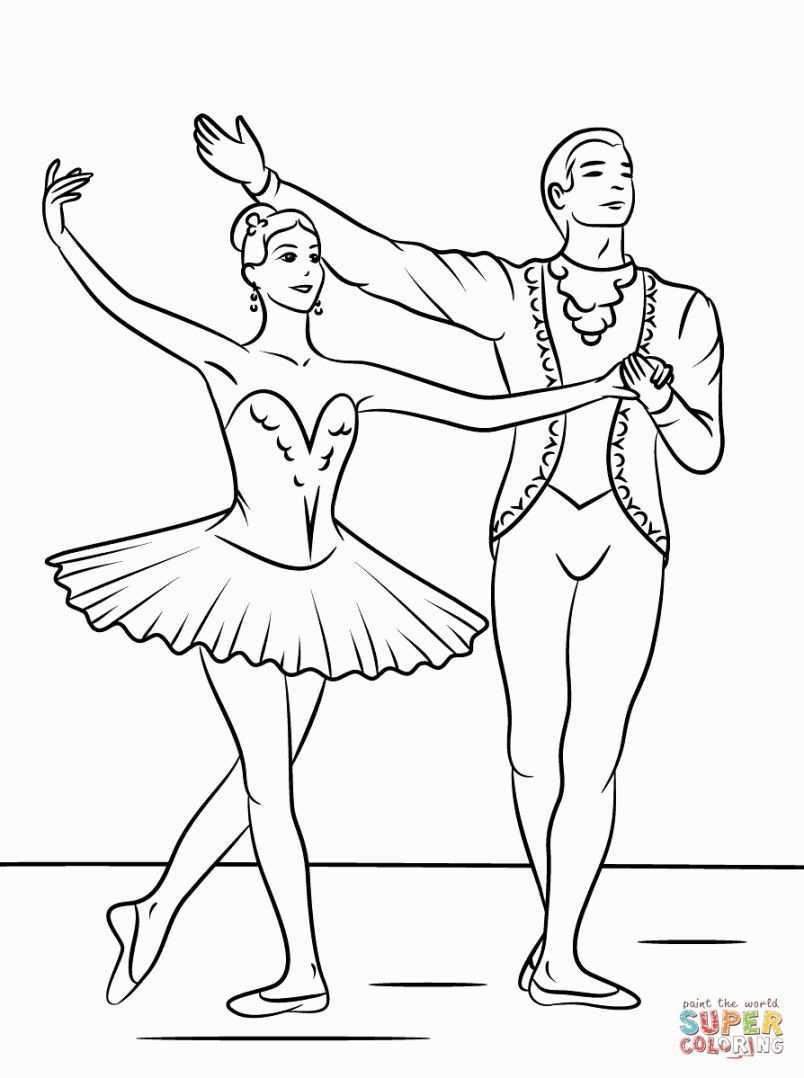 Ballet Coloring Page Ballet Knutselen Gratis Kleurplaten Prinses Kleurplaatjes