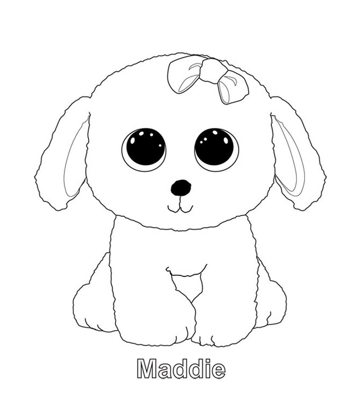 Maddie Beanie Boo Coloring Pages Beanie Boo Dogs Puppy Coloring Pages Dog Coloring Page