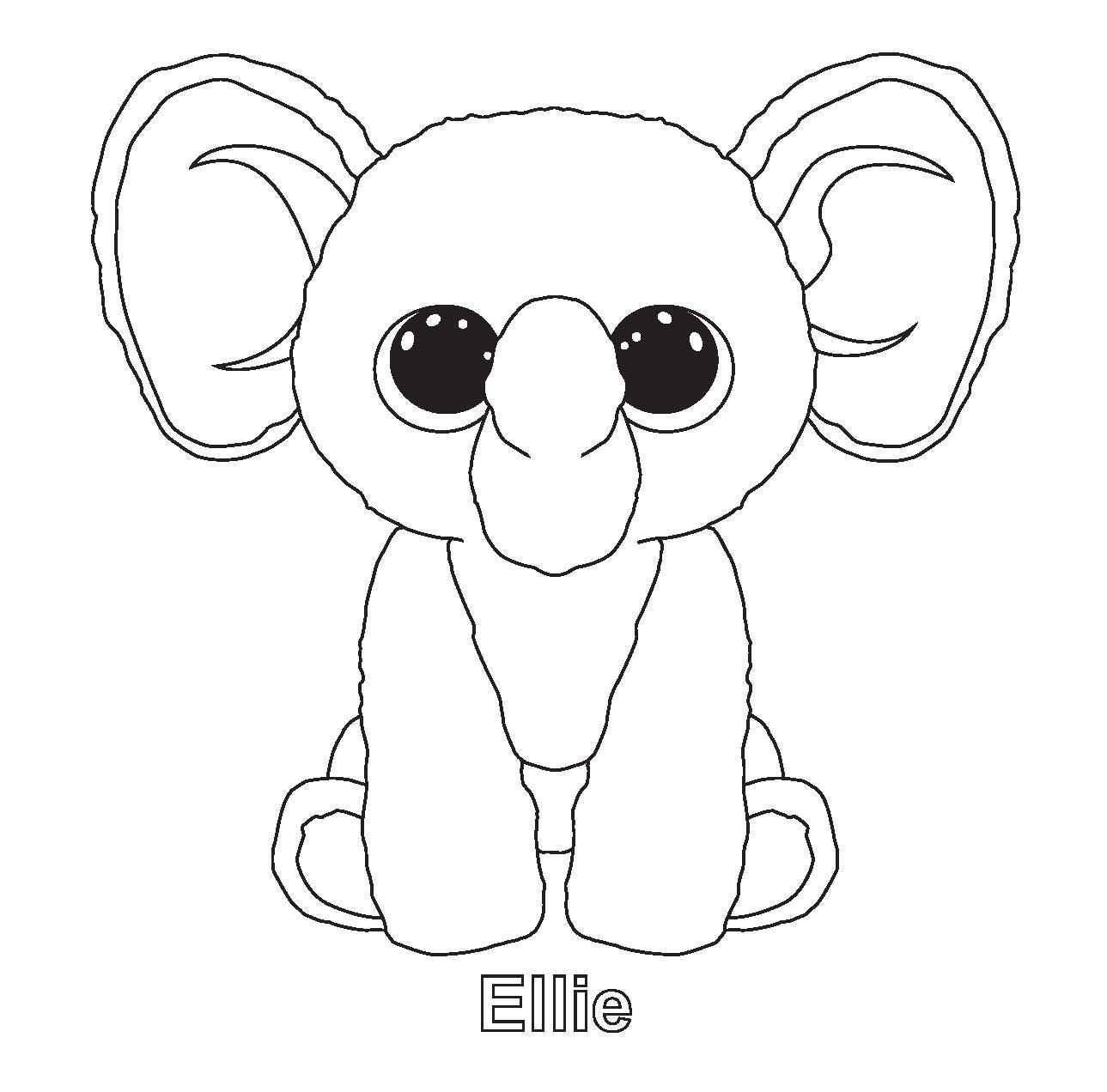 Ellie And Other Ty Beenie Boo Coloring Sheets Beanie Boo Birthdays Coloring Pages Animal Coloring Pages
