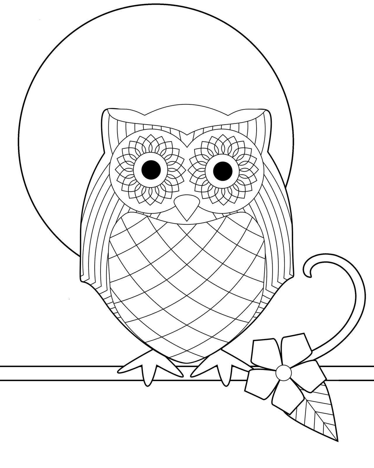 Pin Op Owl Coloring Pages Uil Kleurplaten