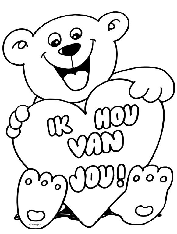 Ik Hou Van Jou Valentijn Knutselen Peuters Kleurplaten Voor Kinderen Knutselen Moederdag Bovenbouw