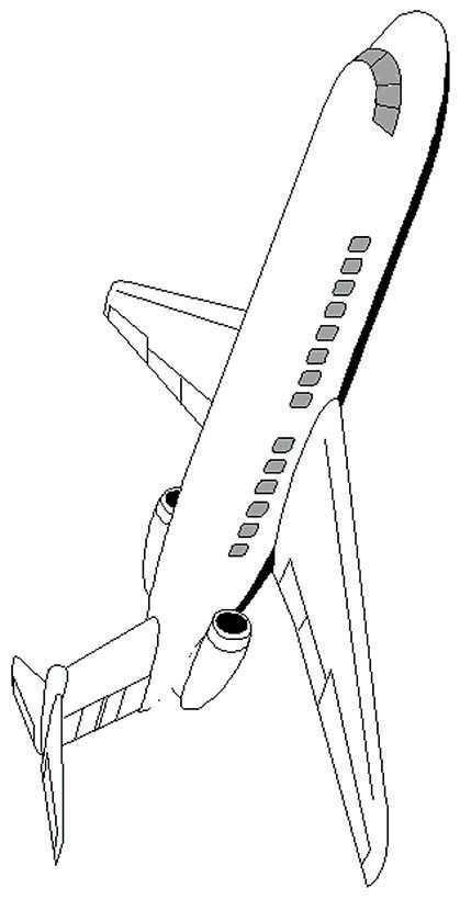 Kleurplaat Vliegtuigen Vliegtuig Vliegtuig Vliegtuig Knutselen Luchtvaart Thema
