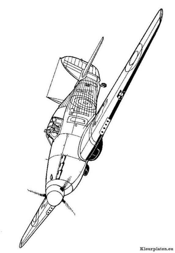 Pin Van Pal Op Coloring Vehicles Tweede Wereldoorlog Wereldoorlog Vliegtuig