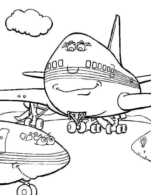 Airplane 999 Coloring Pages Kleurplaten Kleurboek Vliegtuig