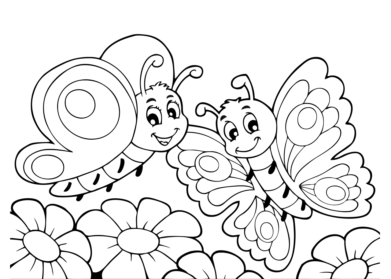 Vlinder Kleurplaat Kleurplaten Vlinders Prints