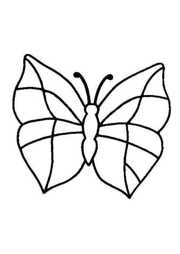 Kleurplaat Vlinders 5855 Vlinder Tekening Vlinders Kleurplaten