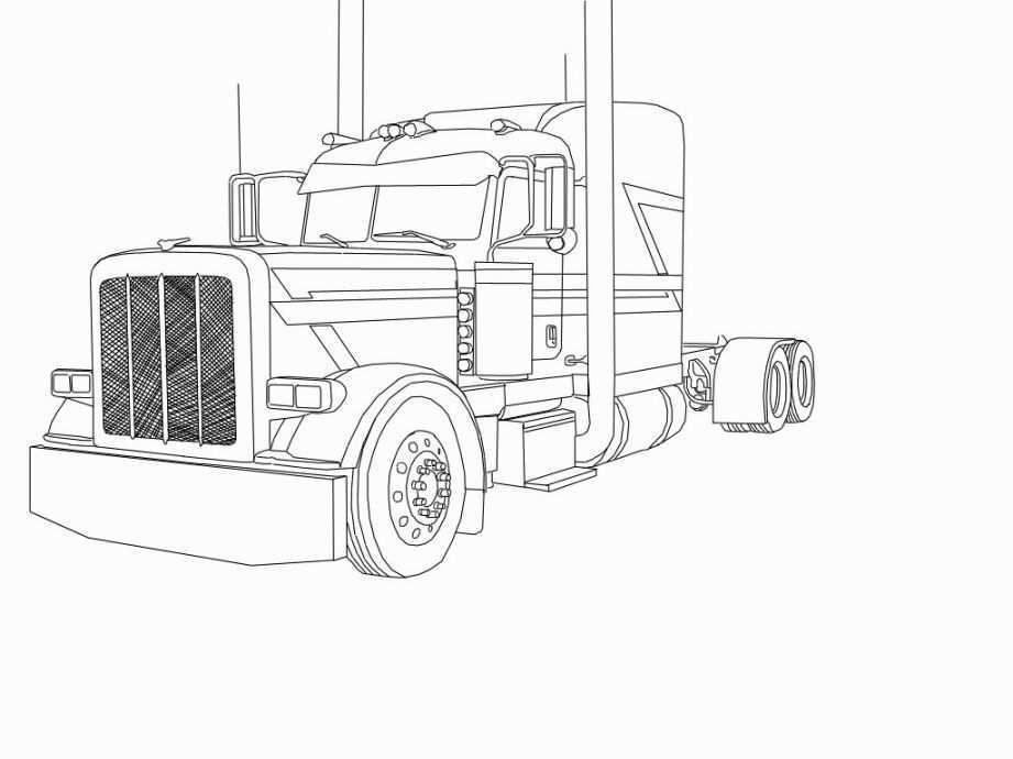 Peterbilt Coloring Pages Truck Coloring Pages Peterbilt Big Rig Trucks