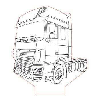 Daf Xf 106 Truck 3d Illusion Lamp Plan Vector File For Laser And Cnc 3bee Studio 3d Illusions 3d Illusion Lamp Cool Car Drawings