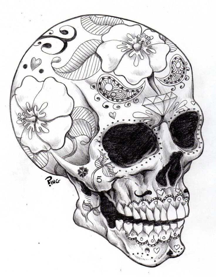 Pin Van Kim Ben Soula Op Skulls Kleurplaten Voor Volwassenen Kunst Ideeen Volwassen Kleurboeken