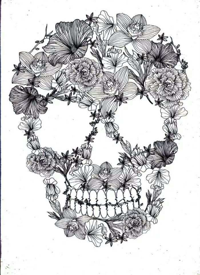 Doodskop Skull Coloring Pages Coloring Pages Coloring Books