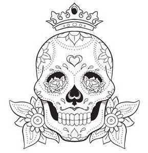 Mexican Sugar Skull Stencil Bing Images Skull Coloring Pages Skull Drawing Mandala Coloring