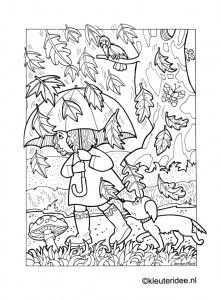 Kleurplaat Herfst Regen Paraplu Kleuteridee Nl Autumn Rain Umbrella 2 Preschool Coloring Fall Coloring Pages Coloring Pages Cute Coloring Pages