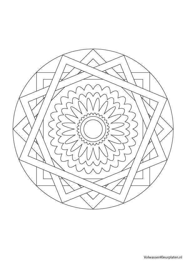 Volwassen Kleurplaat Mandala 2 Volwassen Kleurplaten Mandala Kleurplaten Kleurplaten Mandala