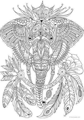 Pin By Steffi Moons On Coloring Pages Elephant Coloring Page Mandala Coloring Pages Cute Coloring Pages