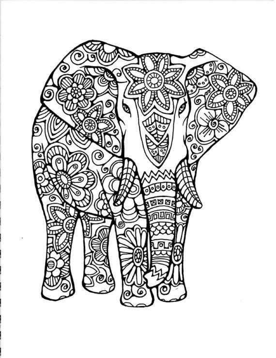 Image Result For Paisley Coloring Pages Dieren Kleurplaten Olifant Tekening Mandala Kleurplaten