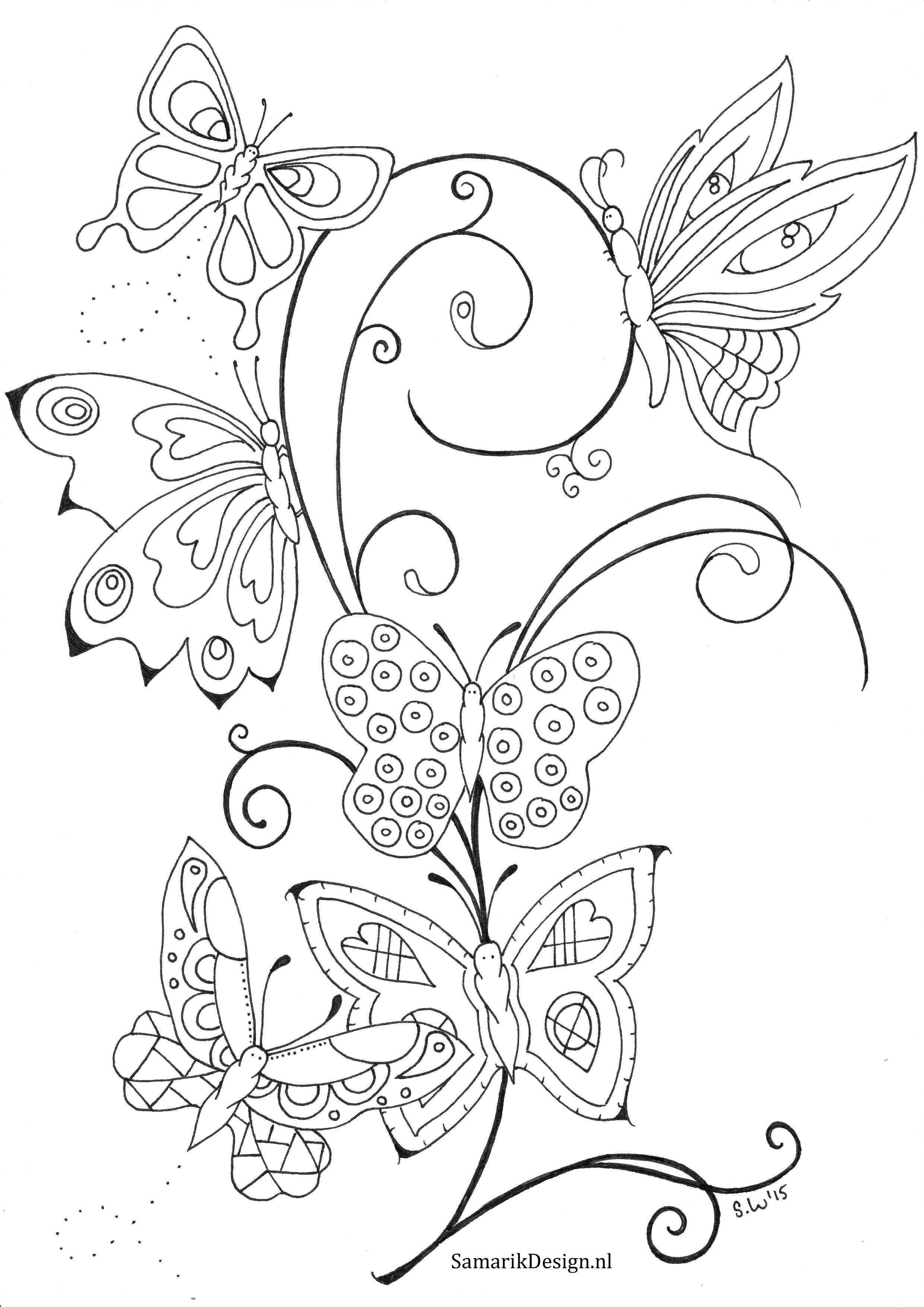 Kleurplaat Voor Volwassenen Butterflies Coloring Pages Butterfly Coloring Page Fairy Coloring Pages