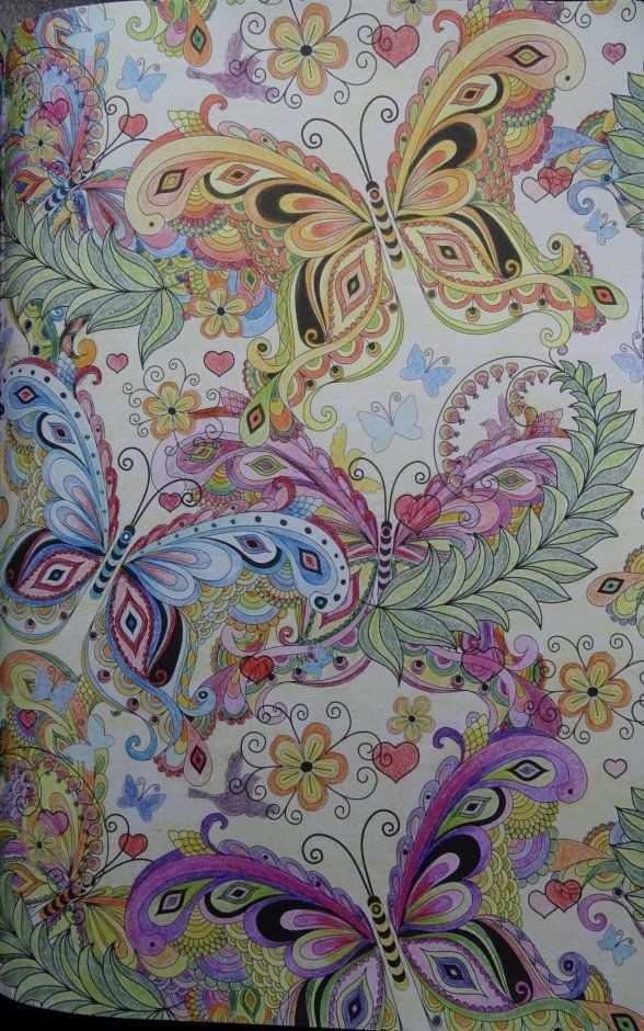 Kleurplaat Het Enige Echte Kleurboek Voor Volwassenen Ingekleurd Vlinders Kleurrijke Tekeningen Kleurplaten Kleurboek