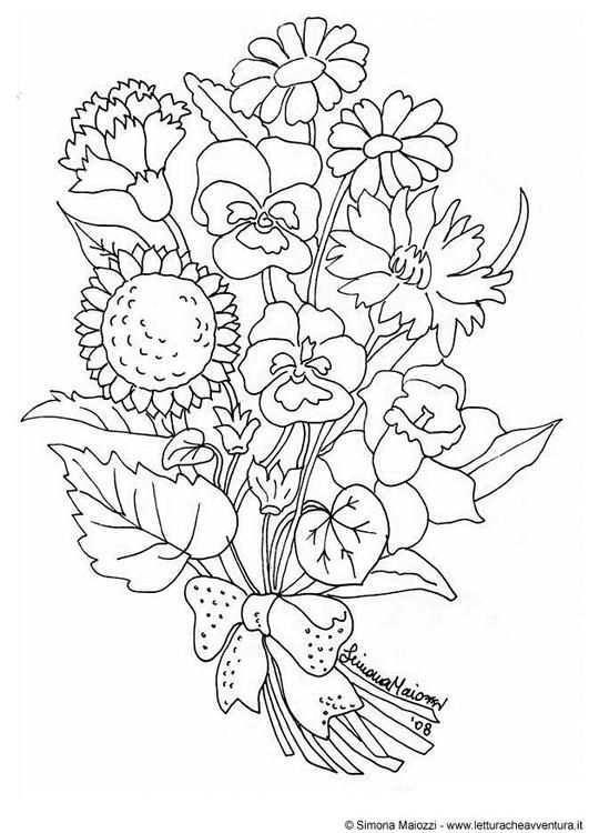 Kleurplaat Bloemen Afb 13824 Boek Bladzijden Kleuren Kleurboek Gratis Kleurplaten