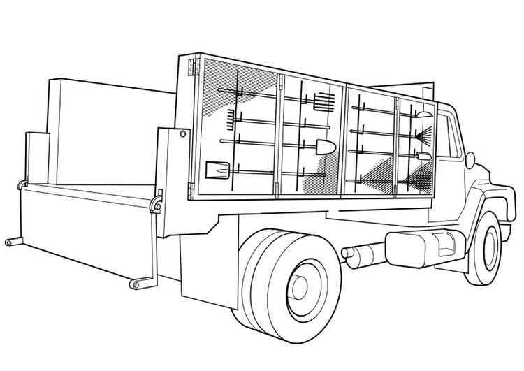 Kleurplaat Vrachtwagen Afb 19113 Vrachtwagens Kleurplaten Gratis Kleurplaten