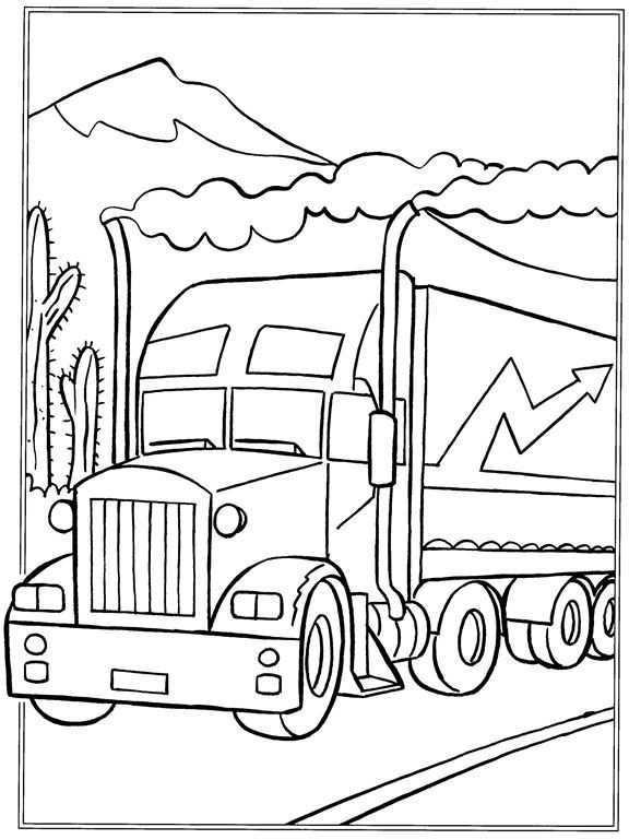 Kids N Fun Kleurplaat Vrachtwagens Vrachtwagens Kleurplaten Kleurboek Vrachtwagens