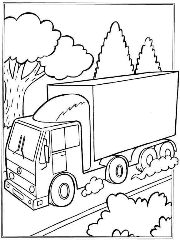 Kleurplaat Vrachtwagens Vrachtwagens Kleurplaten Kinderschilderij Vrachtwagens