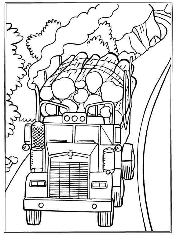Kleurplaat Vrachtwagens Boomstammen Kleurplaten Gratis Kleurplaten Dieren Kleurplaten