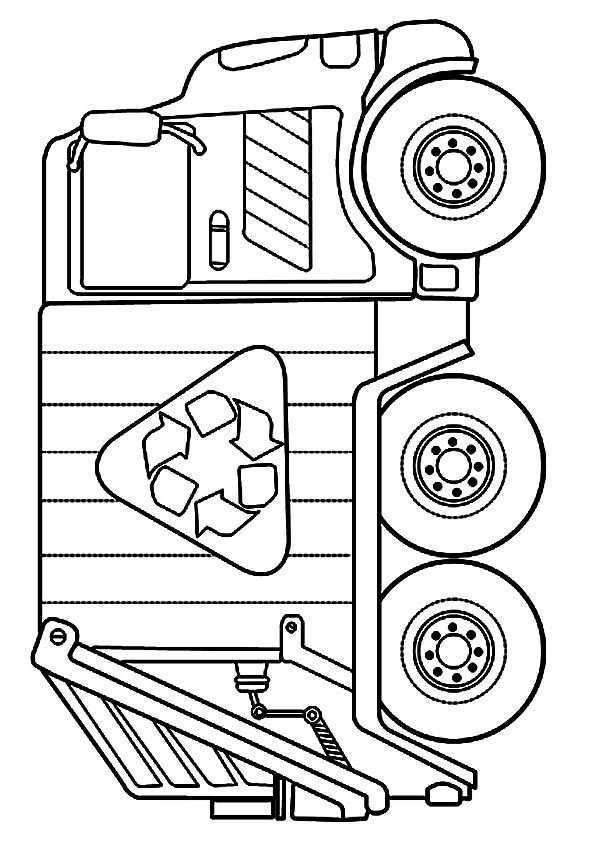 Top 10 Dump Truck Coloring Pages For Your Toddlers Vuilniswagen Kleurplaten En Patroon Boeken