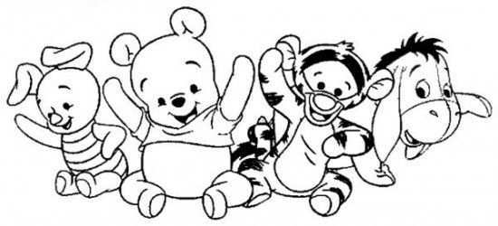 Baby Winnie The Pooh Coloring Pages Baby Disney Characters Disney Coloring Pages Winnie The Pooh Pictures