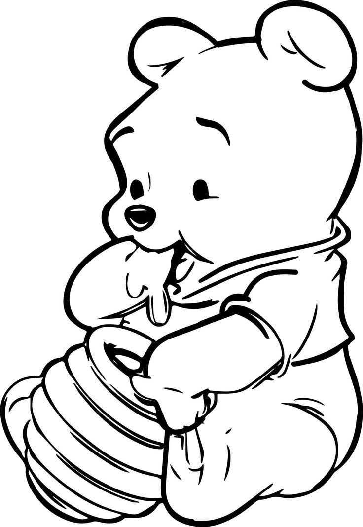 Baby Winnie The Pooh Honey Coloring Page Daphne Iris Hemelaar Winnie The Pooh Drawing Whinnie The Pooh Drawings Winnie The Pooh Honey