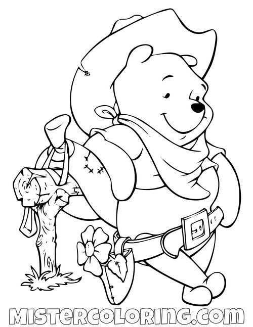 Winnie The Pooh Coloring Pages For Kids Mister Coloring In 2020 Ladybug Coloring Page Coloring Pages Disney Coloring Pages