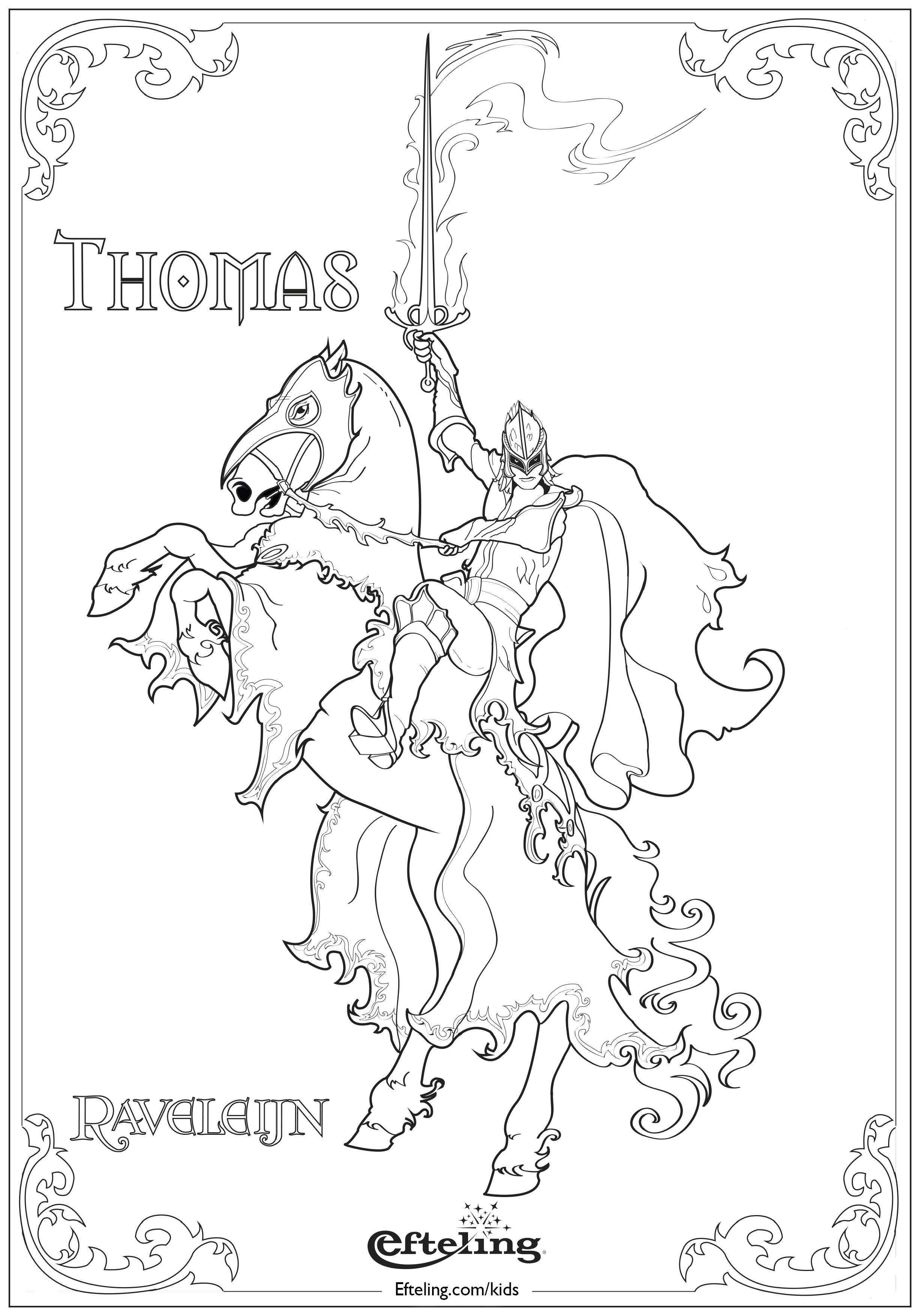 Efteling Kleurplaat Thomas Raveleijn Kleurplaten Sprookjesboom Themafeestjes