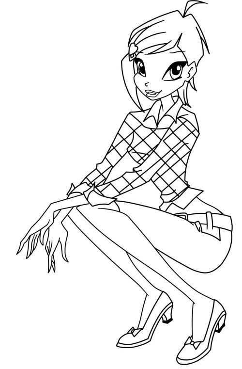 Winx Club Tecna Coloring Pages Coloring Pages Cartoon Coloring Pages Winx Club