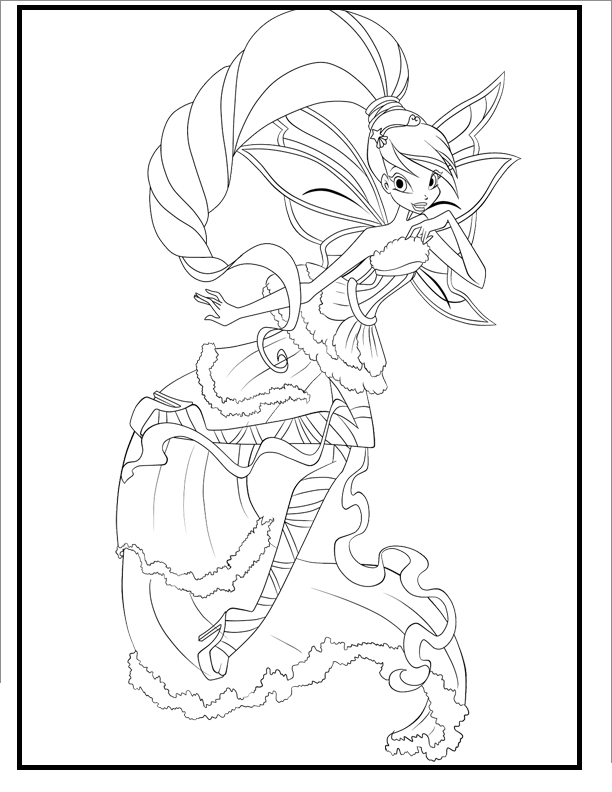 Winx Club Harmonix Coloring Pages For Kids Gtd Printable Winx Club Coloring Pages For Kids Coloring Pages Cartoon Coloring Pages Princess Coloring Pages