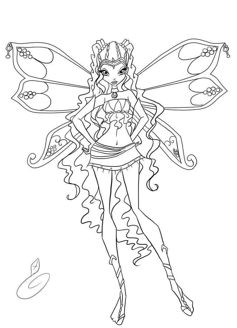 Layla Coloring By Fantazyme On Deviantart Mermaid Coloring Pages Fairy Coloring Pages Coloring Pages